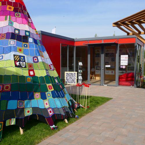 Pavillon der Wir4 auf der Landesgartenschau  ©