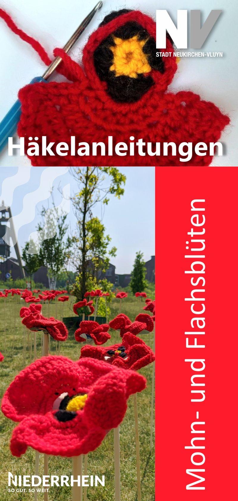 Häkelanleitung für Mohn- und Flachsblüten